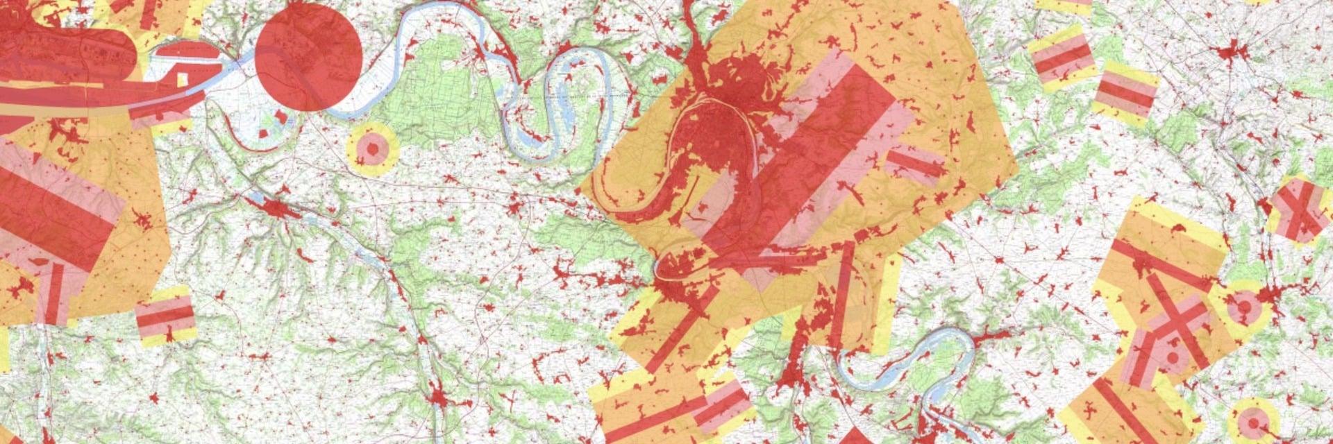 Carte Drone Spot pour savoir où voler