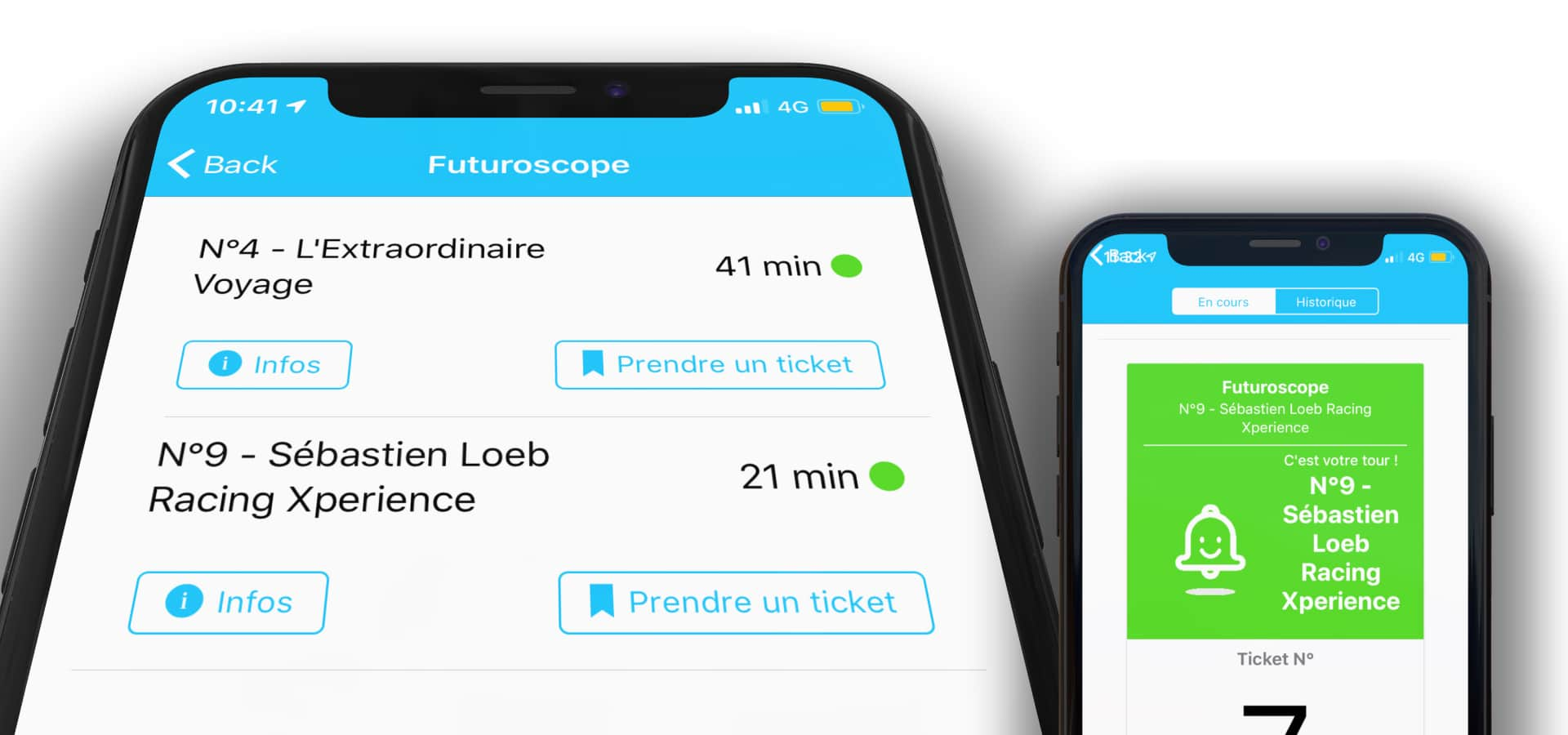 Application Lineberty au Futuroscope
