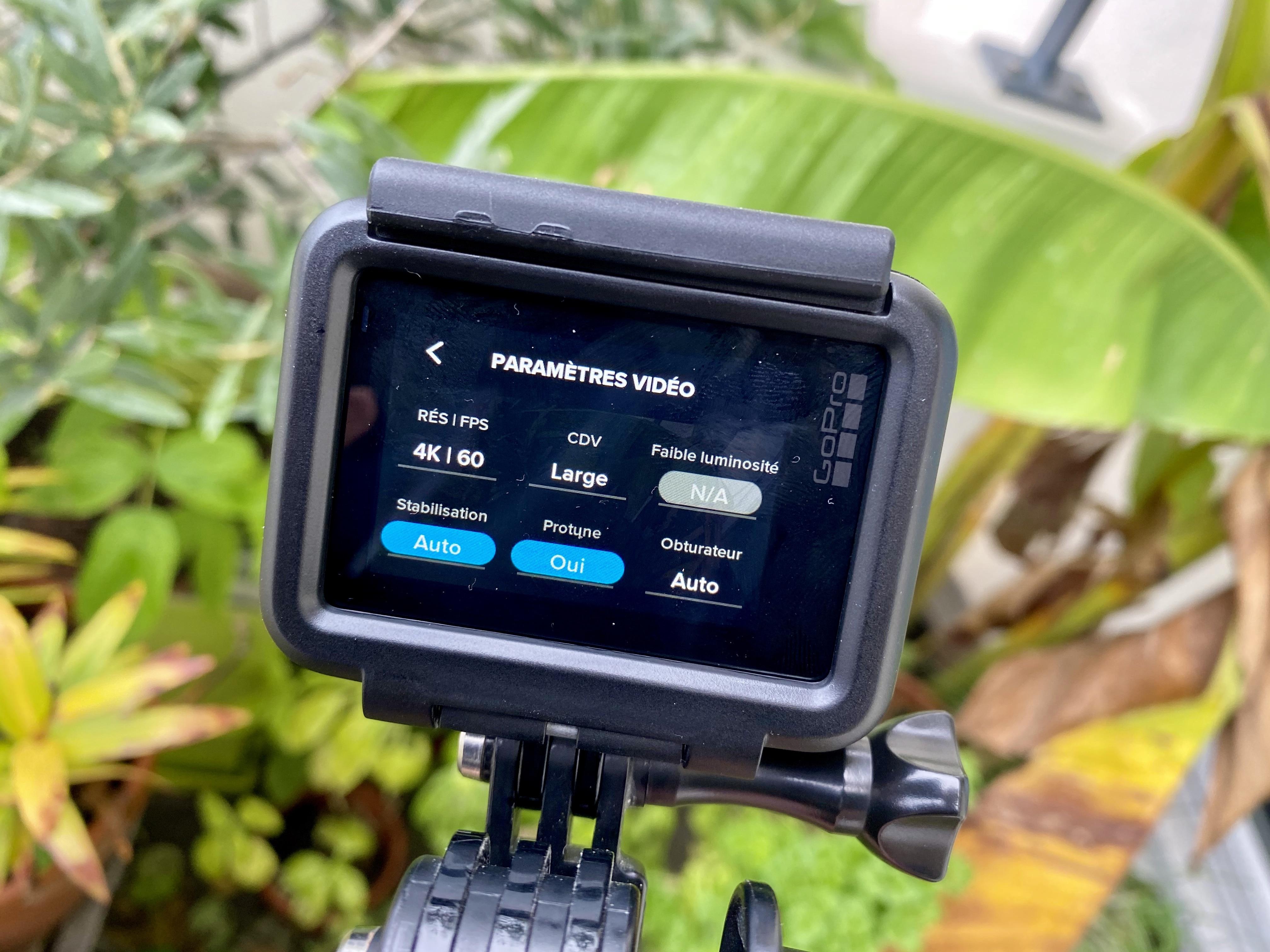 Paramètres par défaut de la GoPro