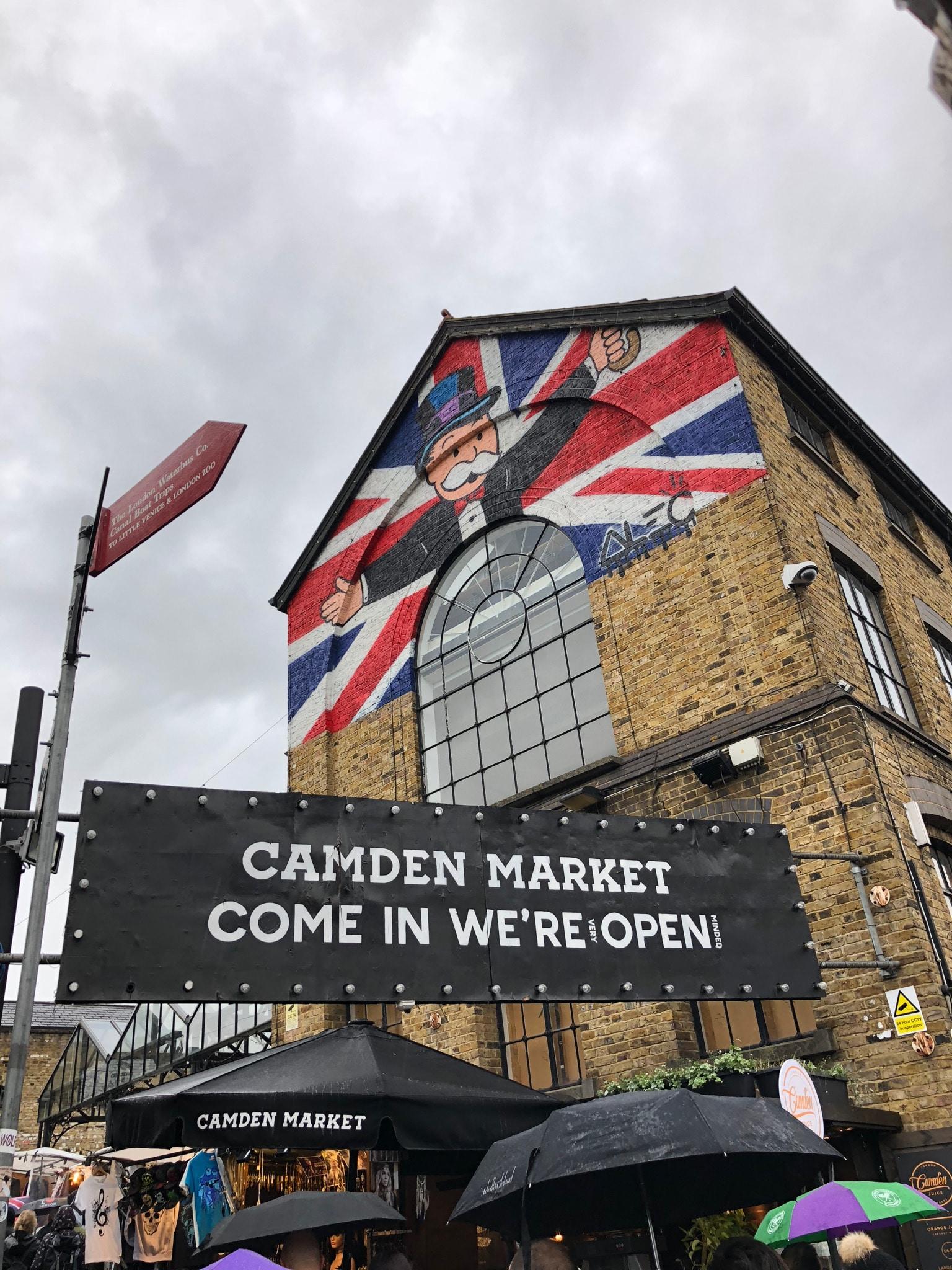 Londres - Bienvenue à Camden Town (sous la pluie) !