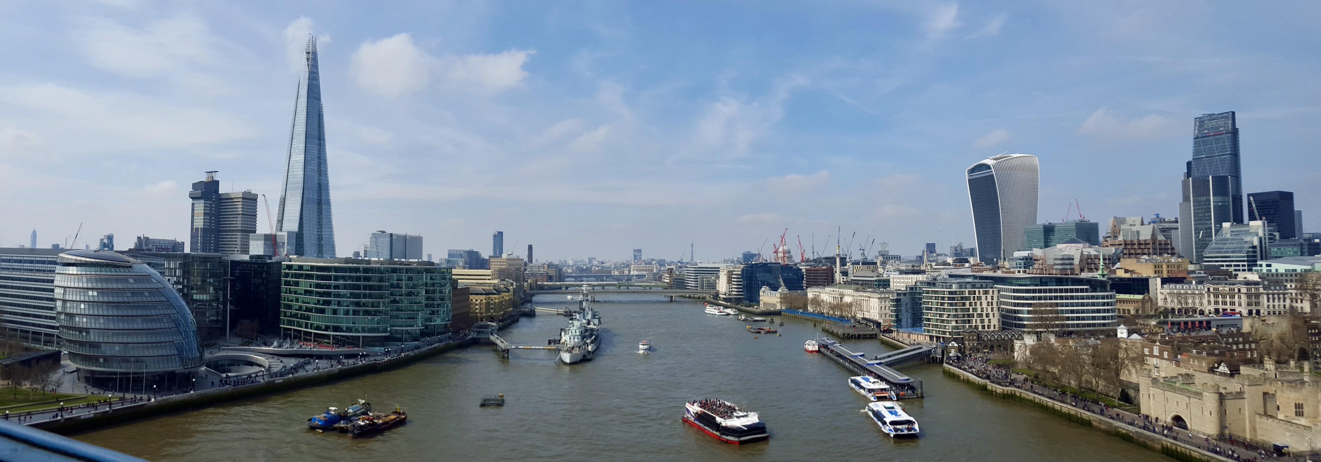 Londres - La vue depuis le haut de Tower Bridge