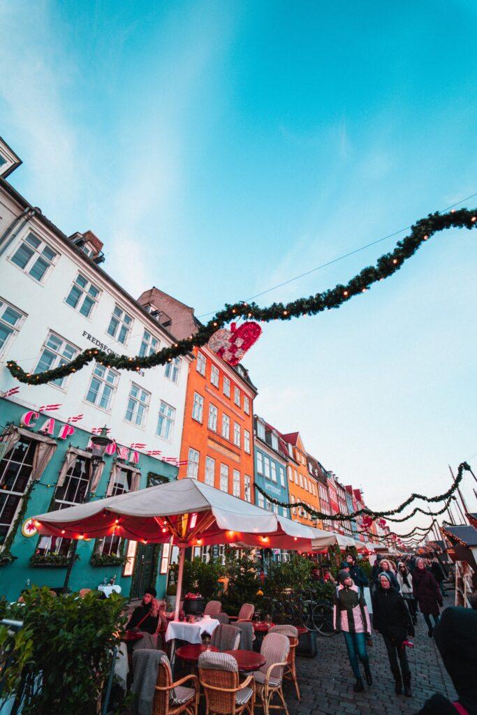Marché de Noël de Nihavn à Copenhague
