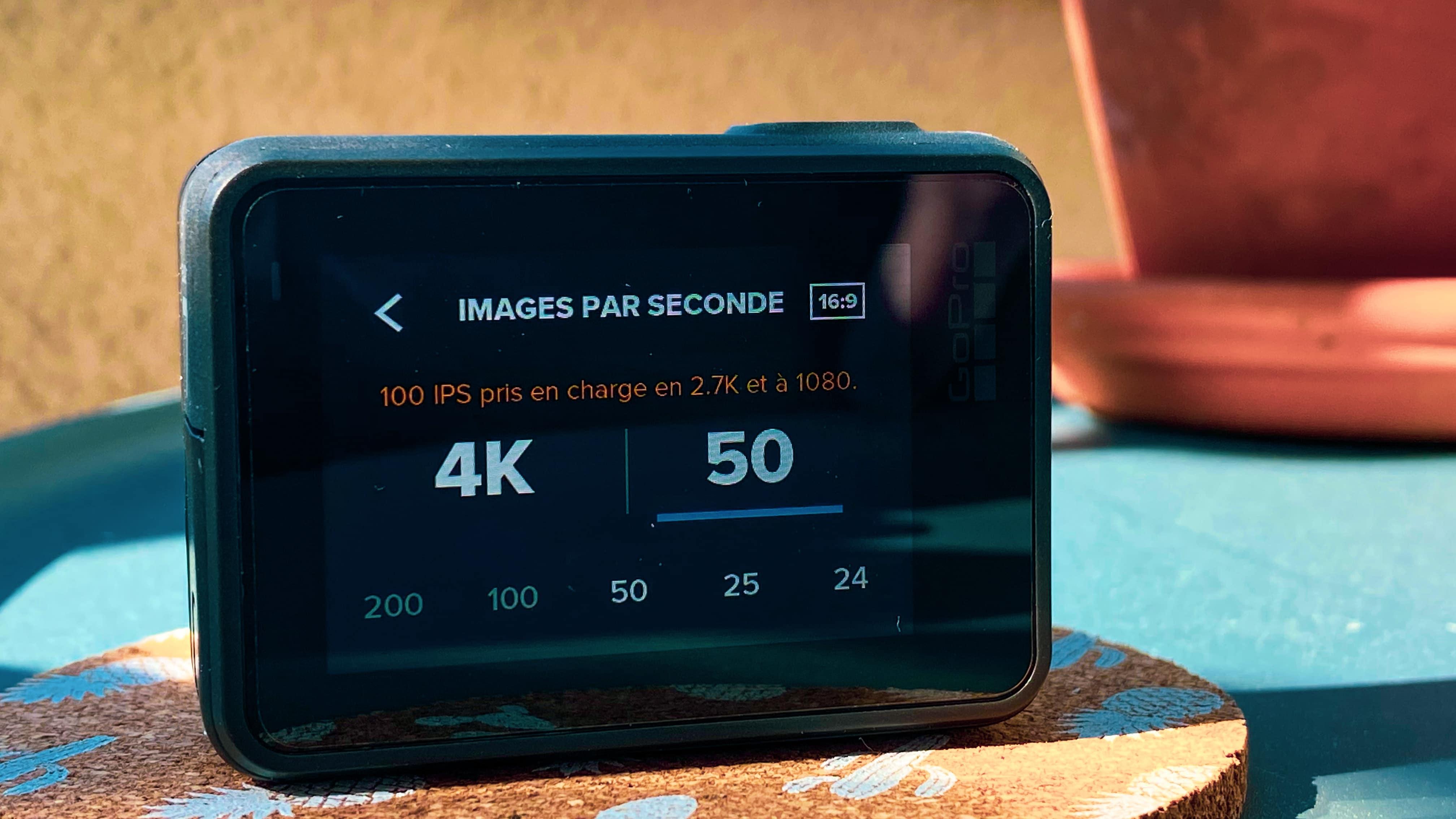 Résolution et fréquence d'images - Réglage GoPro Fréquence