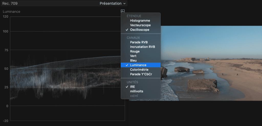 Etalonnage profil D-CINELIKE avec Final Cut - Réglage exposition