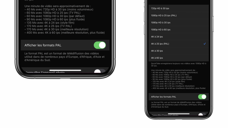 iPhone - iOS - Format PAL