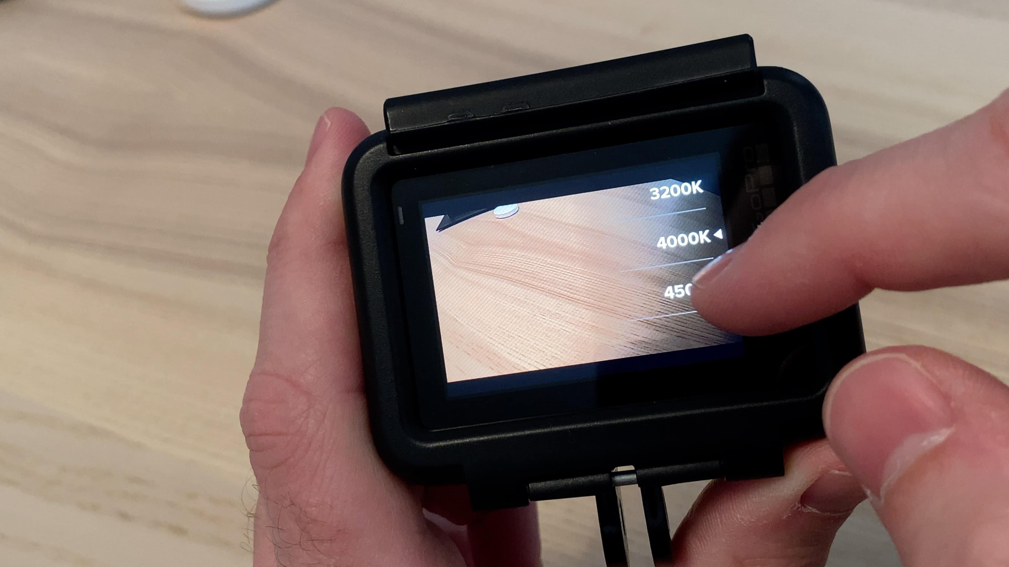 Balance des blancs - GoPro - Temperature