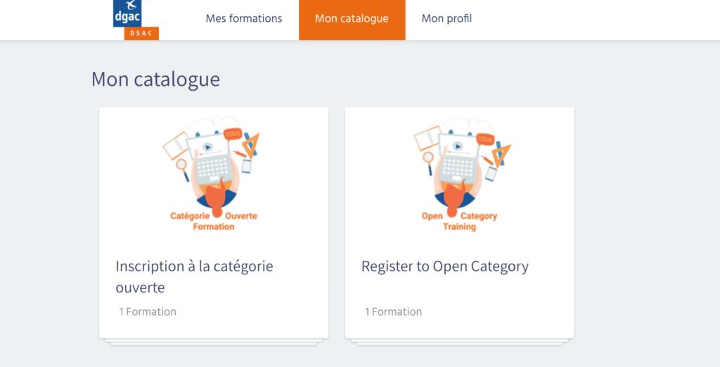 Formation Categorie Ouverte - Catalogue