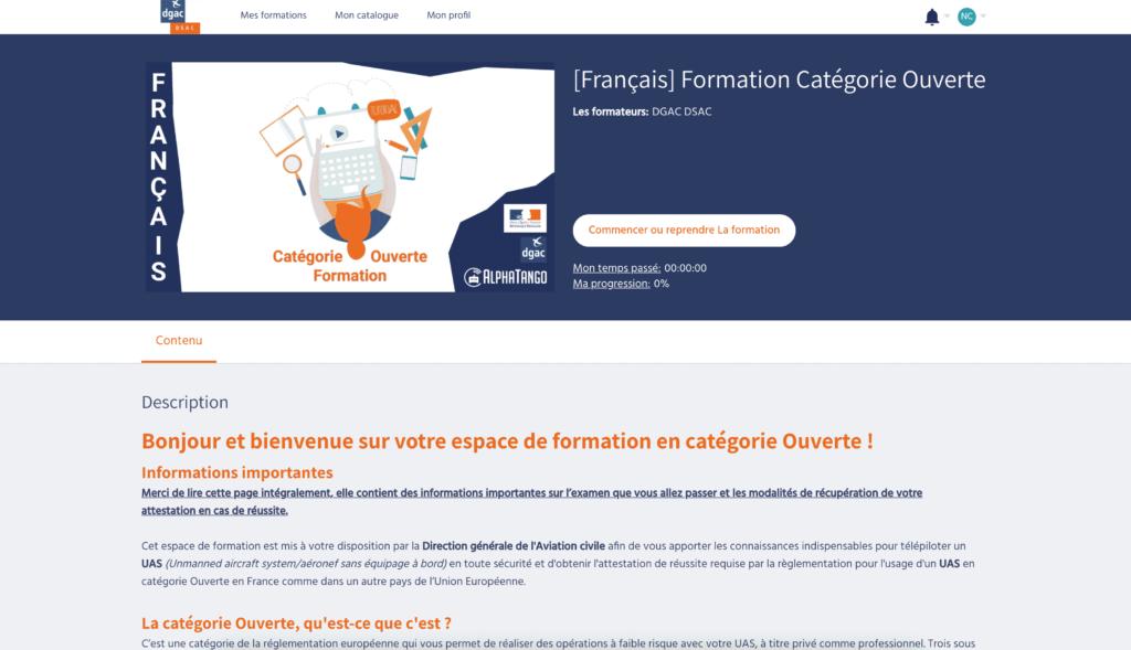 La nouvelle formation pour la Catégorie ouverte est disponible en France ! 1