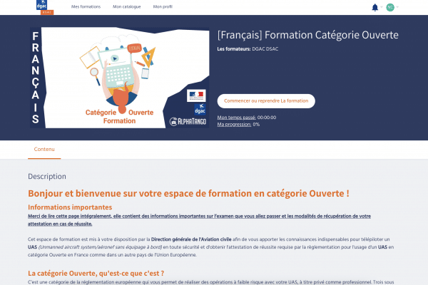 Formation Categorie Ouverte - Formation