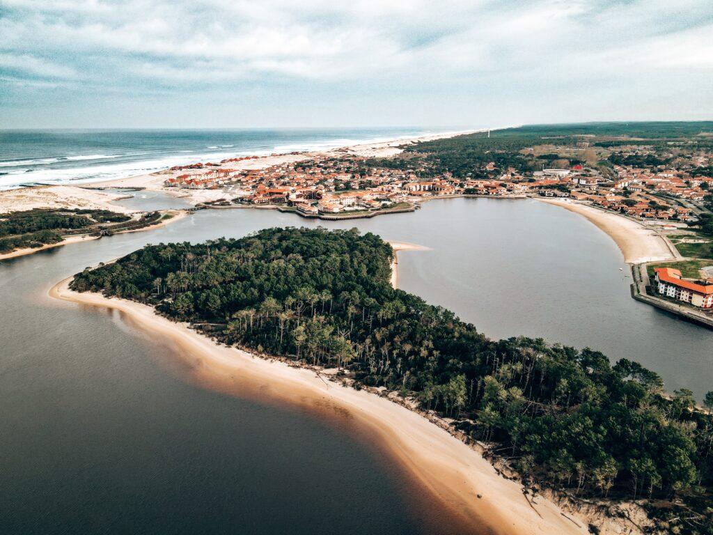 Lac marin du port d'Albret