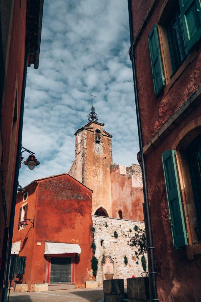 Village de Roussillon dans le Luberon