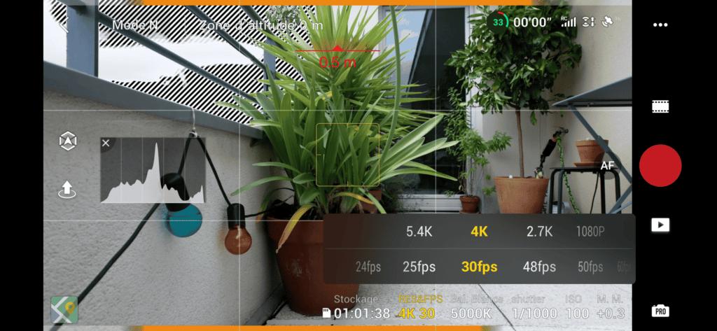 DJI Air 2S - Réglages manuels vidéo