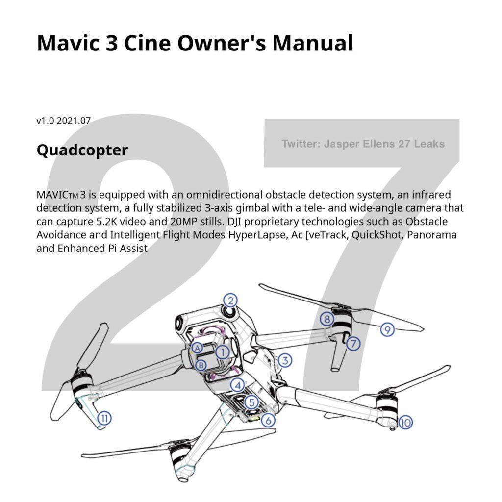 DJI Mavic 3 - Mode emploi 01